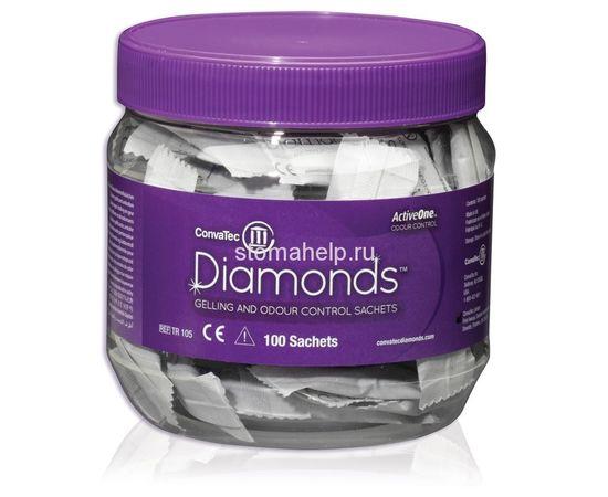 TR105 ConvaTec Trio Diamond с ActiveOneTM  Система контроля за запахом, абсорбирующие пакетики-саше 1 банка/100 саше