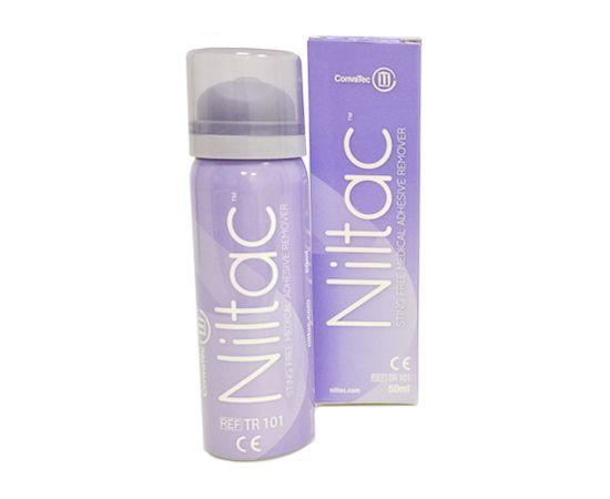 TR101 ConvaTec Trio Niltac Медицинский антиклей для снятия кало- и мочеприемников. Очиститель для кожи Нилтак Спрей 50 мл.